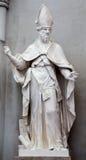 Wien - staty av St Augustine den stora läraren av den västra kyrkan i den Augustinerkirche eller Augustine kyrkan Royaltyfria Bilder