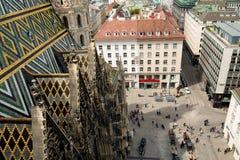 Wien Österrike flyg- landskap Royaltyfri Fotografi