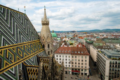 Wien Österrike flyg- landskap Arkivbild