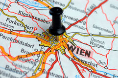 A Wien su gioco del calcio fotografie stock libere da diritti