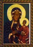 Wien - symbol av svarta Madonna från sidoaltaret av den Altlerchenfelder kyrkan Royaltyfria Bilder