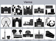 Wien symboler Arkivfoton