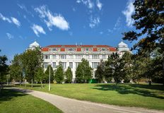 Wien tekniskt museum Stad av Wien, Österrike, Europa royaltyfria bilder