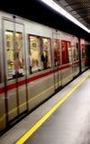Wien tunnelbana Arkivbild
