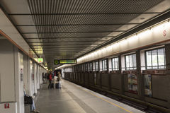 Wien U-Bahn Arkivbilder