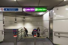 Wien U-Bahn Stockbild