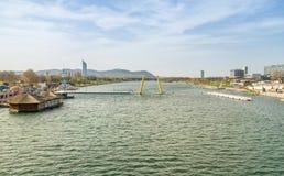 Wien und Donau lizenzfreie stockfotografie