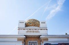 Wien utträdebyggnad bildades i 1897 av en grupp av Austr Royaltyfri Foto