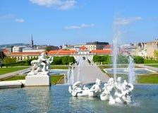 Wien/Viena, Áustria: Belvedere Fotografia de Stock