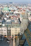 Wien. View from St. Stephen`s Cathedral in Vienna, Austria Stock Photos