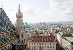 Wien, Vogelperspektive Stockfotos