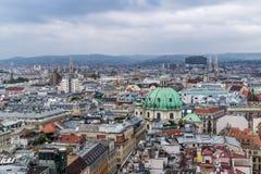 Wien von oben Lizenzfreie Stockfotos