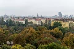 Wien von oben Lizenzfreie Stockbilder