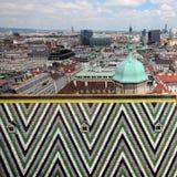 Wien von oben Stockfotografie