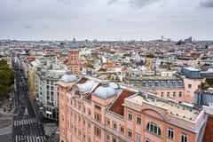 Wien von oben Lizenzfreies Stockfoto