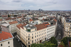 Wien von oben Lizenzfreie Stockfotografie