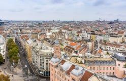 Wien von oben Stockfoto