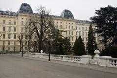 Wien-Zustand-Oper im Winter Stockfotografie
