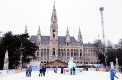 Wiener Eistraum (ice rink), Vienna Stock Image