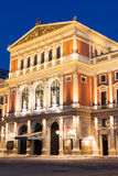 Wiener Musikverein at evening Royalty Free Stock Photo
