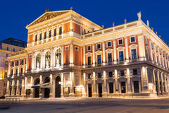 Wiener Musikverein at evening. Famous concert hall and landmark of Vienna Royalty Free Stock Photography
