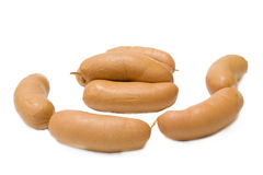 Wiener no fundo isolado Imagens de Stock