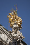 Wiener Pestsaule - Plague Memorial, Vienna, Austria. Wiener Pestsaule - Plague Memorial by Kracker and Bendel 1693, Vienna, Austria Stock Image