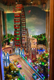 Wiener Prater miniature Wheel. Situated in Prater musseum Royalty Free Stock Image