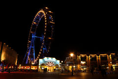 Wiener Prater at night Stock Photo
