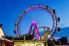 Wiener Prater Wheel. Shot after sunset Stock Photo