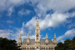 Wiener Rathaus City Hall in Vienna Stock Images