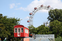Wiener Riesenrad. The famous Ferris wheel in the Vienna Prater Stock Photos