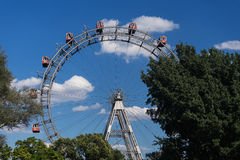 Wiener Riesenrad. Giant ferris wheel at entrance of prater park in vienna Stock Image