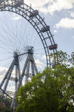 Wiener Riesenrad. The Wiener Riesenrad in Prater park, Vienna. Constructed in 1897, it was the world's tallest extant Ferris wheel from 1920 until 1985 Royalty Free Stock Images