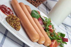 Wiener sausage. Royalty Free Stock Photos