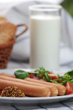 Wiener sausage. Royalty Free Stock Photography