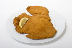 Wiener Schnitzel. Is a popular food, which can be quickly prepared Stock Images