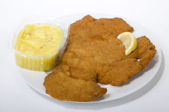 Wiener Schnitzel. Is a popular food, which can be quickly prepared Royalty Free Stock Images