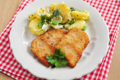 Wiener Schnitzel. Fried pork chop Royalty Free Stock Photo
