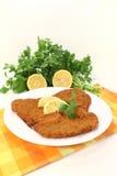 Wiener Schnitzel with lemon Royalty Free Stock Images