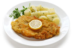 Wiener schnitzel, veal cutlet royalty free stock photography