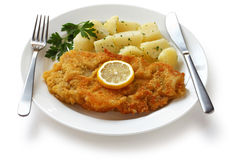 Wiener Schnitzel, Veal Cutlet Royalty Free Stock Photo