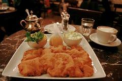 Wiener WürstchenSchnitzel Stockfotografie