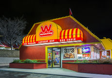 Wienerschnitzel Fast Foot Restaurant and Sign Royalty Free Stock Images