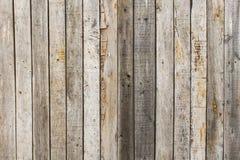 Wieśniak wietrzał stajni drewnianego tło z kępkami i gwóźdź dziurami Zdjęcia Royalty Free