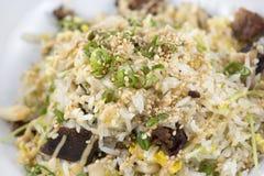 Wieprzowina brzucha smażący ryż Obraz Stock