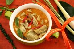 Wieprzowina curry'ego zieleń Obraz Royalty Free