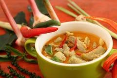 Wieprzowina curry'ego zieleń Zdjęcie Royalty Free