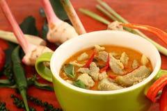 Wieprzowina curry'ego zieleń Zdjęcie Stock