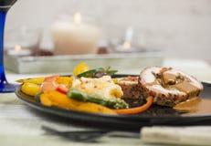 Wieprzowina fileta gość restauracji Obrazy Royalty Free